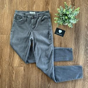 """Madewell 9"""" High-Rise Garment-Dyed Skinny Jeans"""
